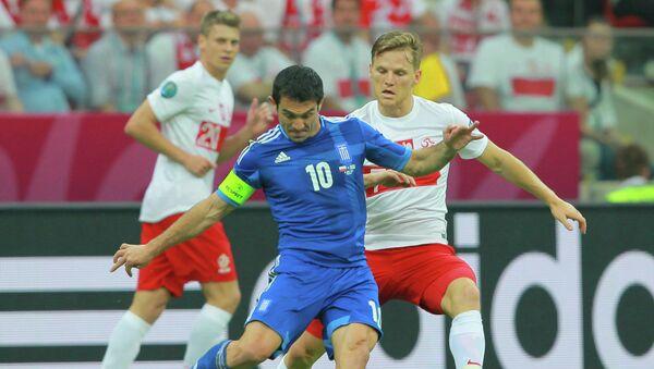 Игровой момент матча Польша - Греция