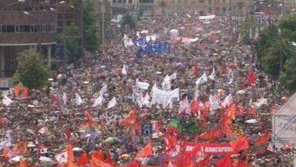 Митинг протеста на проспекте Сахарова 12 июня