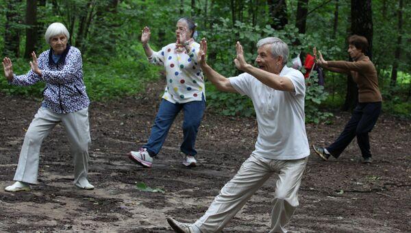 Спорт Москва пенсионер гимнастика