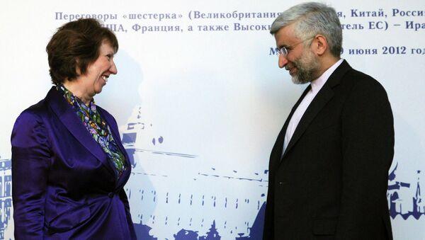 Кэтрин Эштон и Саид Джалили на переговорах в Москве