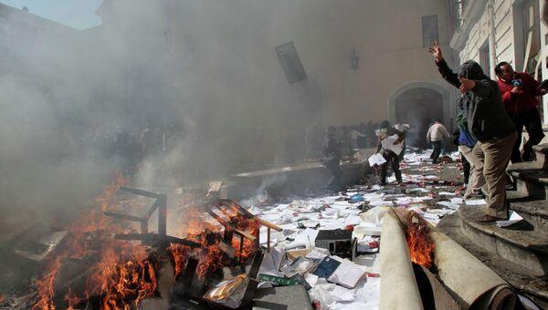 Бунт полицейских в Боливии