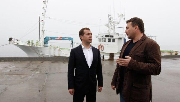 Рабочая поездка Д.Медведева на Курильские острова