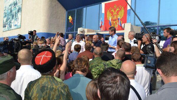 Губернатор Краснодарского края Александр Ткачев на встрече с жителями