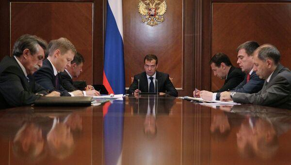 Д.Медведев проводит совещание в подмосковной резиденции Горки