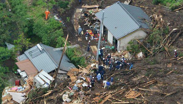 Последствия ливней на юге Японии