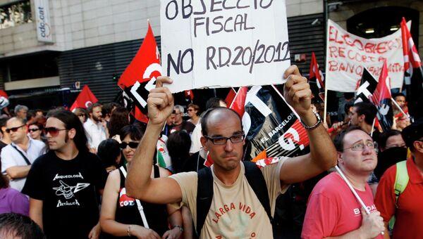 Акции протеста в Испании