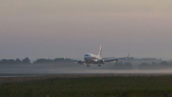 Работа аэропорта Богашево в Томске