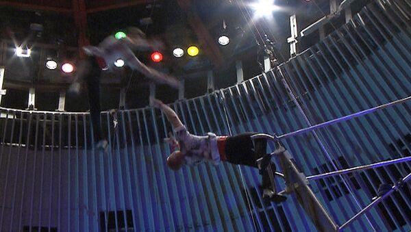 Летающие под куполом цирка артисты представили номер Миллениум
