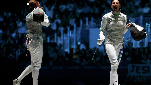 Итальянская рапиристка Элиза Ди Франчиска выиграла золото Олимпийских игр в Лондоне