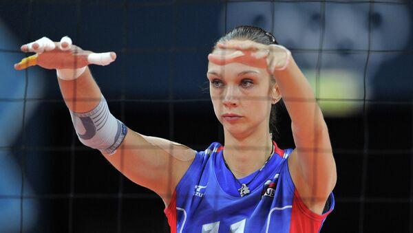 Игрок сборной России Екатерина Гамова