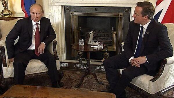 Путин на встрече с Кэмероном поделился впечатлениями от олимпийского Лондона
