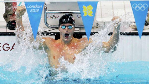 Американец Клэри победил в плавании на спине на 200 м на ОИ в Лондоне