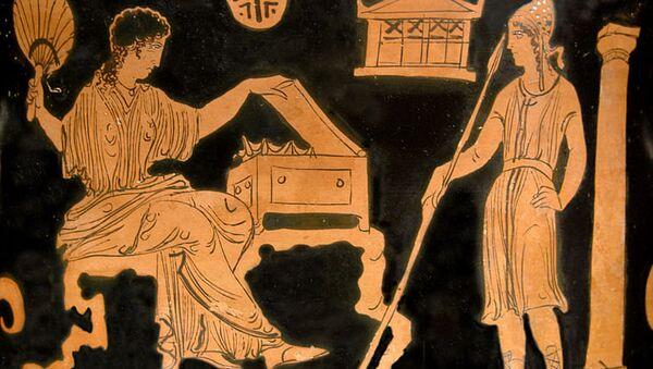 Елена и Парис. Иллюстрация к поэме Илиада