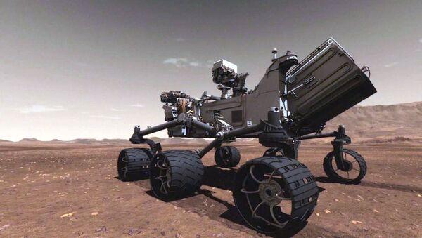 Марсоход Curiosity в поисках следов жизни ездит по 3D-макету Красной планеты