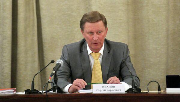 Руководитель Админстрации президента РФ Сергей Иванов