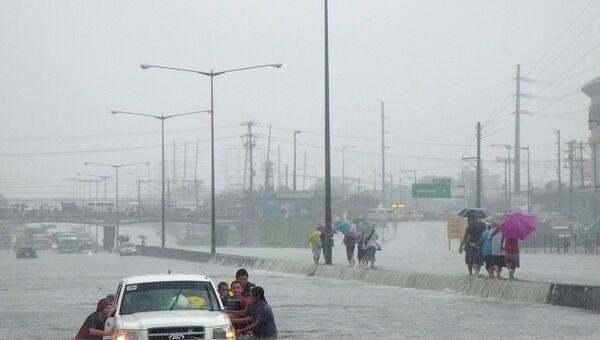 Последствия ливневых дождей на Филиппинах