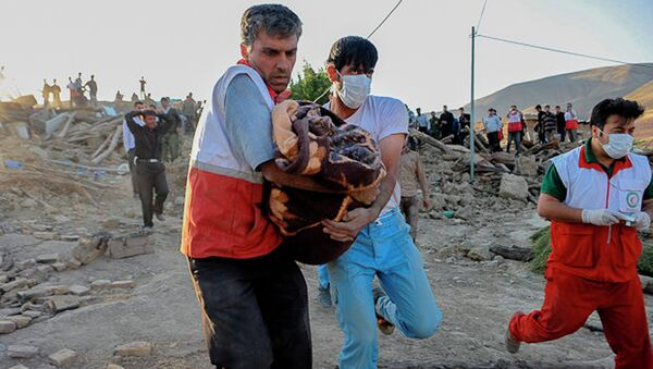 Помощь пострадавшим от землетрясения в Иране