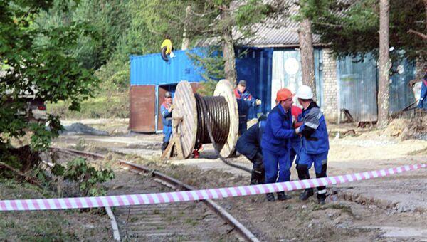 Работы по восстановлению Маткожненской ГЭС и в поселке Сосновец Беломорского района
