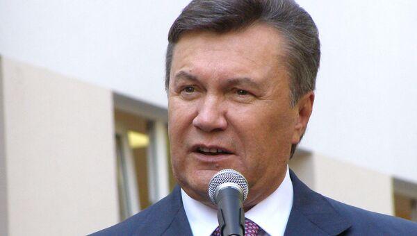 Президент Украины Виктор Янукович во время рабочей поездки в г. Севастополь