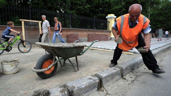 Замена брусчатки в Москве