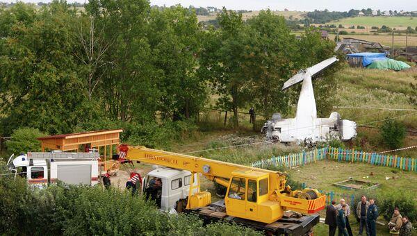 Крушение легкомоторного самолета в Ленинградской области