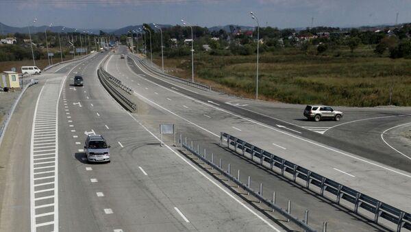 Первая скоростная магистраль сдана в эксплуатацию в Приморье. Архив