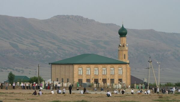 Похороны духовного лидера мусульман Дагестана Саида Афанди