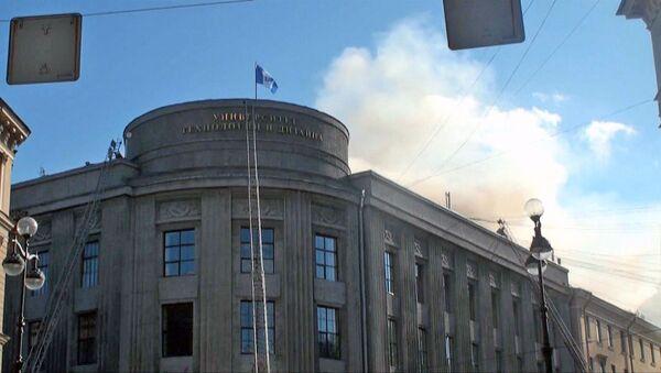 Пожар в здании Санкт-Петербургского Государственного университета технологии и дизайна