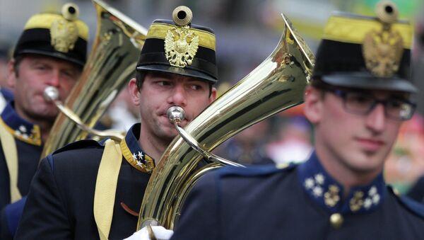 Военнослужащие австрийского оркестра