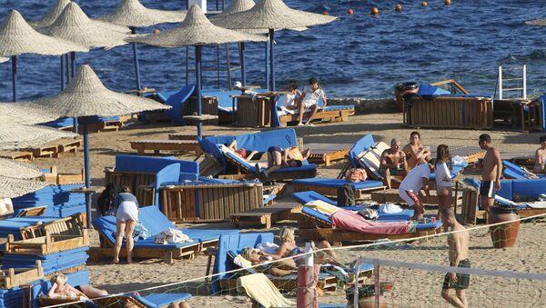 Отдыхающие в Египте