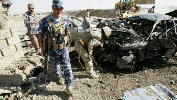 На месте взрыва в иракском Киркуке 9 сентября