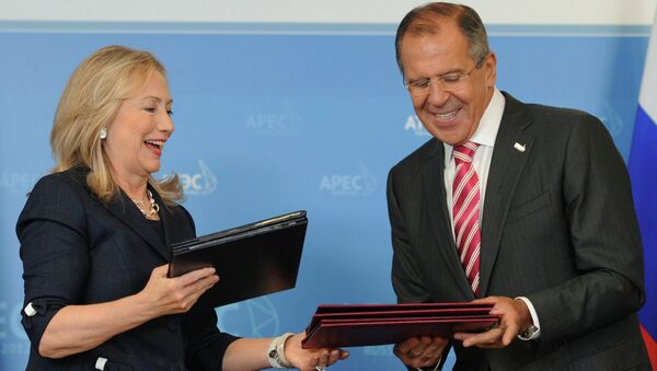 Встреча С.Лаврова и Х.Клинтон в рамках саммита АТЭС