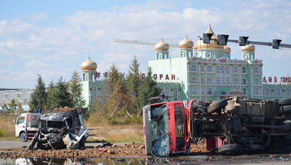 ДТП с участием Газели, перевозившей российских туристов, в китайском городе Маньчжурия