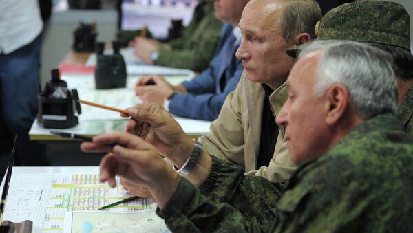 Посещение В.Путиным учений Кавказ-2012