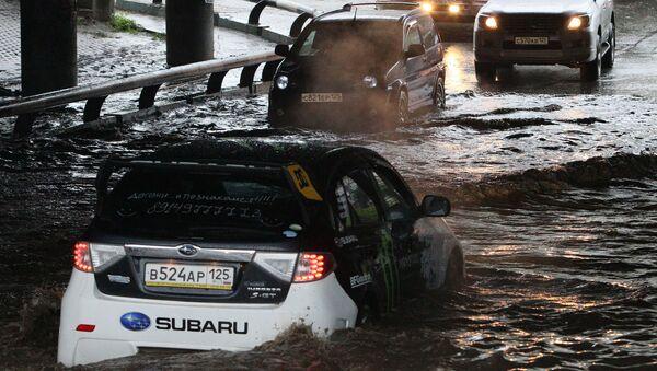 Последствия тайфуна Санба на Дальнем Востоке