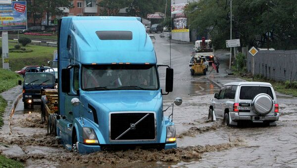 Тайфун Санба во Владивостоке