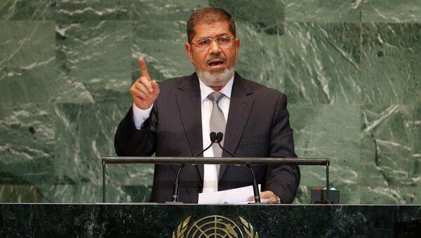 Египетский президент Мухаммед Мурси выступает на Генеральной ассамблее ООН