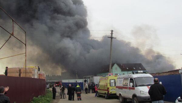 Пожар на складе в Подмосковье