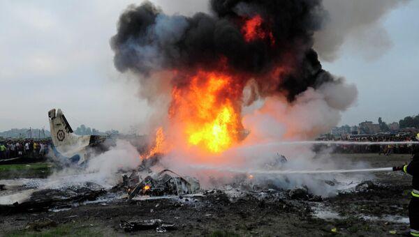 Крушение пассажирского самолета в Непале