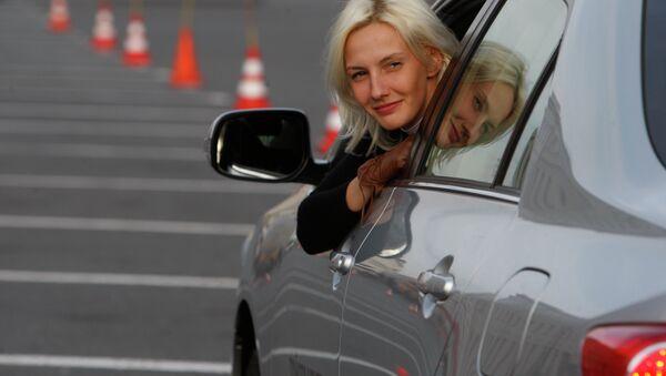 Участница всероссийского конкурса водительского мастерства среди женщин АвтоЛеди