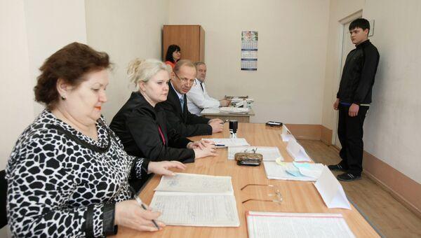 Работа призывного пункта в Уссурийске