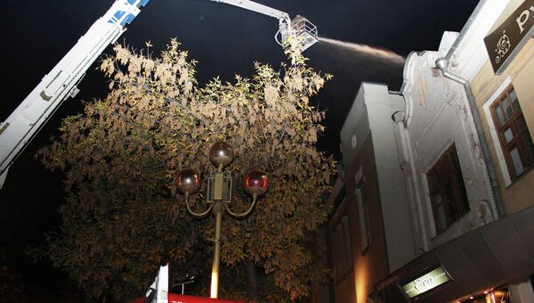 Пожар в здании театра юного зрителя в Саратове