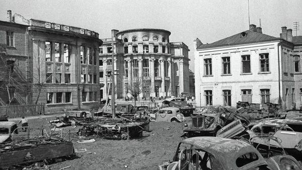 Город Винница после освобождения от фашистских захватчиков. 1944-45 годы