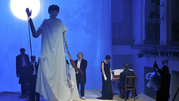 Сцена из спектакля Как вам это понравится по пьесе У.Шекспира Сон в летнюю ночь