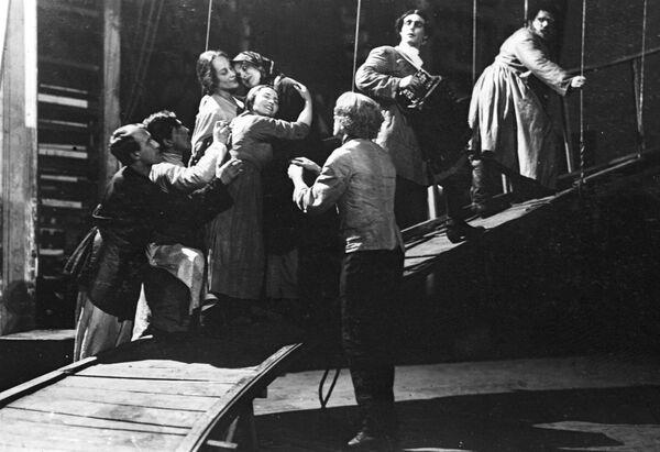 Сцена из спектакля А. Островского Лес в постановке Всеволода Мейерхольда