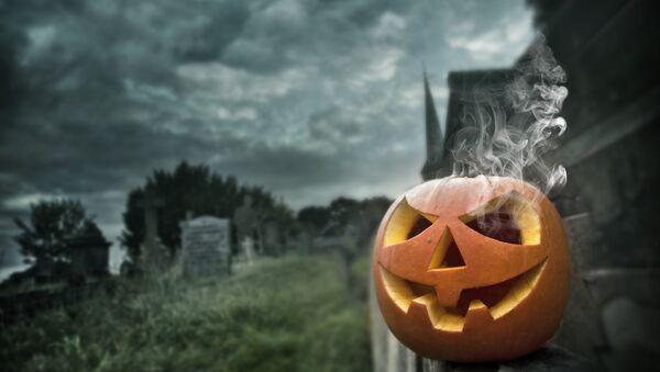 Тыква на празднике Хэллоуин. Архивное фото