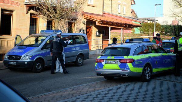 Полиция на месте стрельбы в городе Рот-ам-Зе, Германия