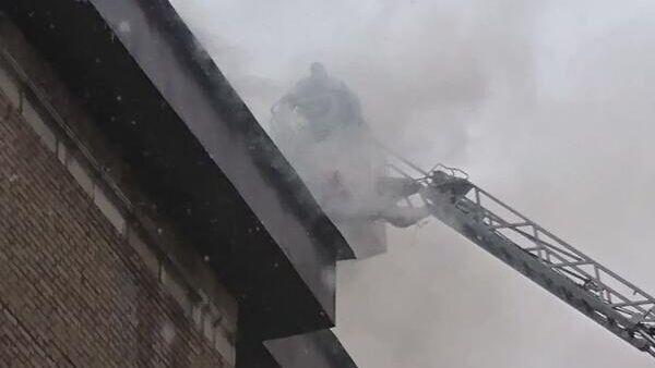 Пожар в районе Текстильщике ЮВАО Москвы. 28 января 2020