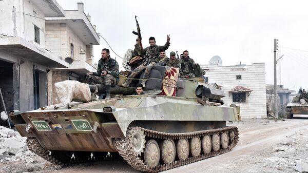 Сирийские военные в провинции Идлиб