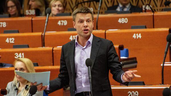 Депутат Верховной рады от партии Европейская солидарность Алексей Гончаренко во время работы зимней сессии Парламентской ассамблеи Совета Европы во французском Страсбурге